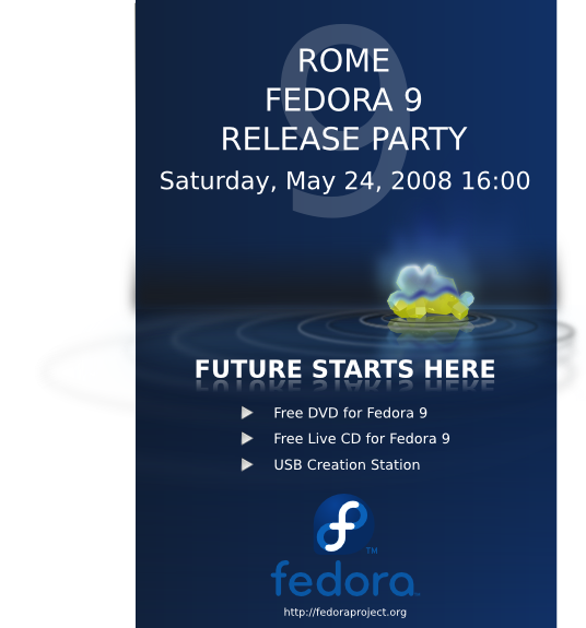 FedoraEvents ReleaseParty F9 Rome RM releaseP.png