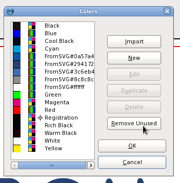 How to set CMYK color on a design for printing - Fedora
