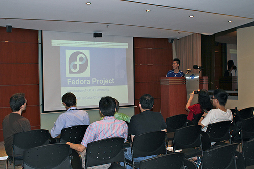 ^ I was presenting in Fedora Meetup in Hong Kong, 2012.