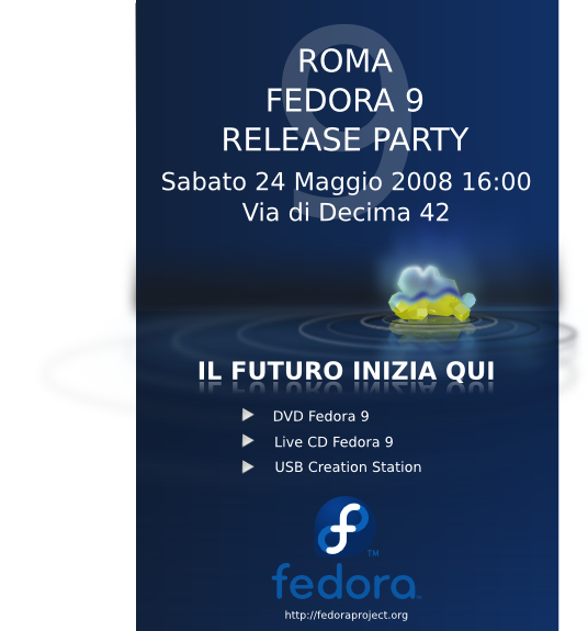 FedoraEvents ReleaseParty F9 Rome RMit releaseP.png