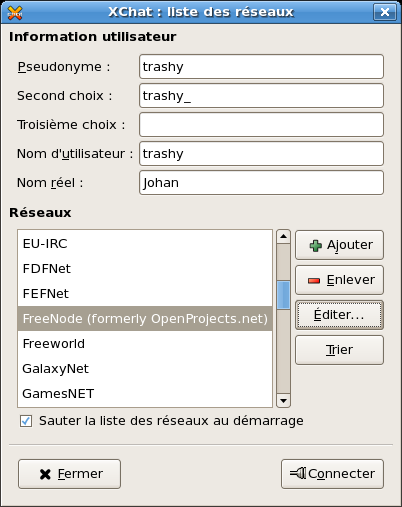 Fr FR Communiquer GuideIRC xchat-server-list-fr.png