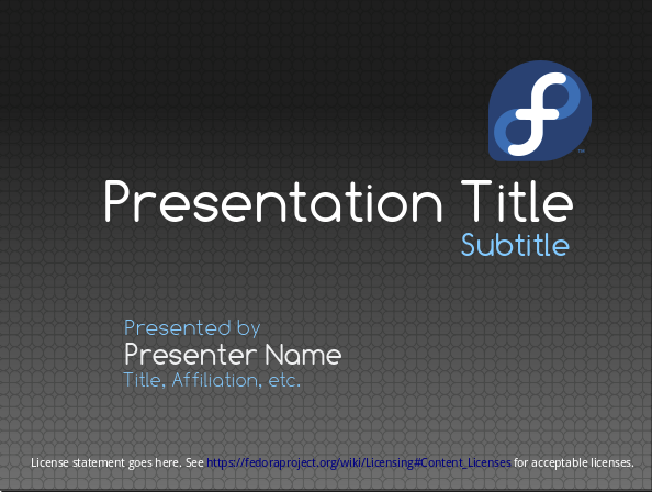 presentations template fedora project wiki