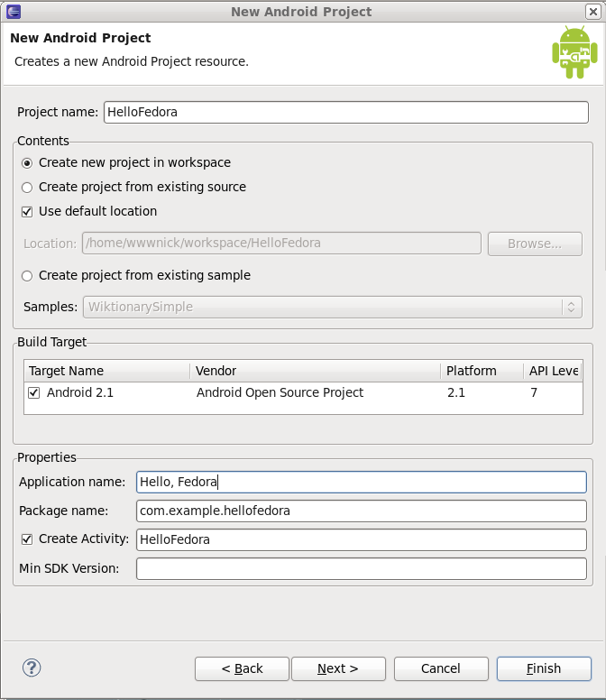 HOWTO Setup Android Development - FedoraProject