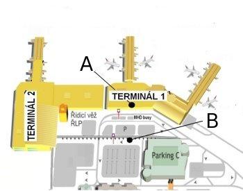 Prague Airport Terminal 1 Map