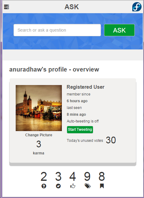 alt AskFedora Userpage