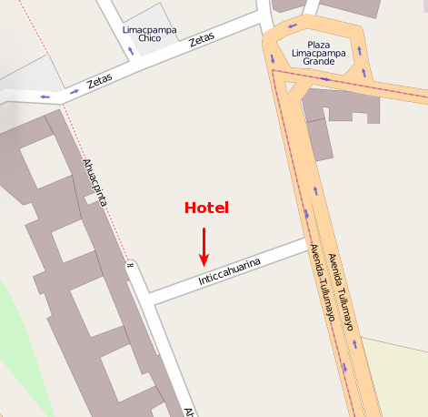 Antawasi Hotel Location