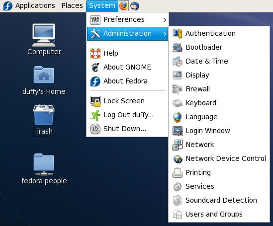 Artwork F8Themes IconReview Fedora 8 Icon Review system-administration.png