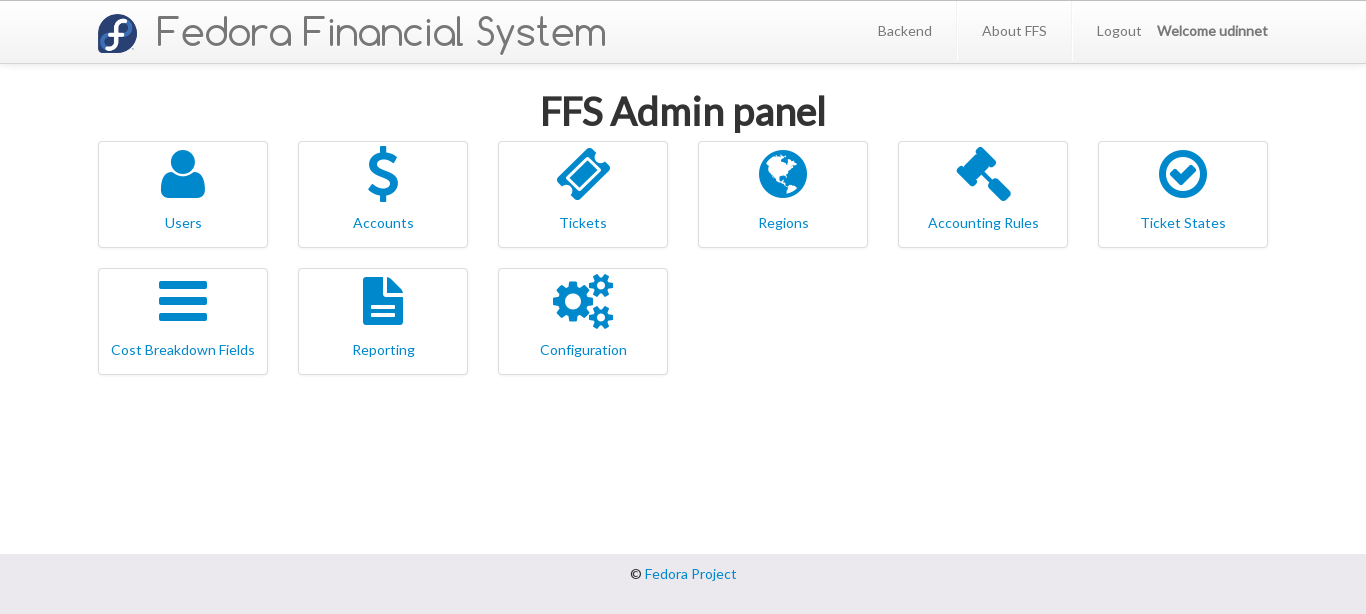 The login for FFS with FAS login enabled.