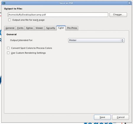 Scribus File Export Dialog Cmyk Tut