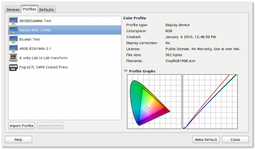 GNOME Color Manager 2.30.0